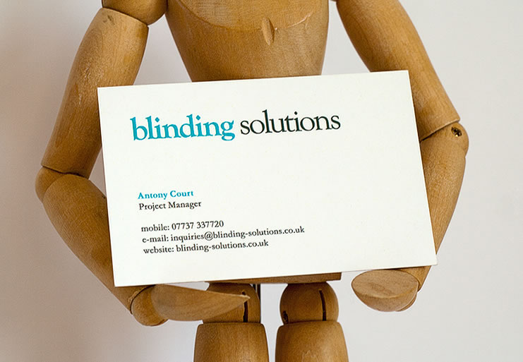Front business card design for Blinding Solutions