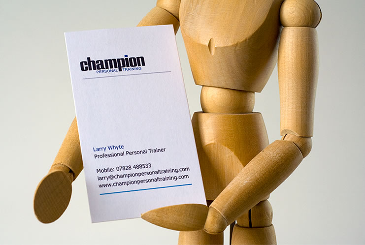 Front business card design for Champion Personal Training