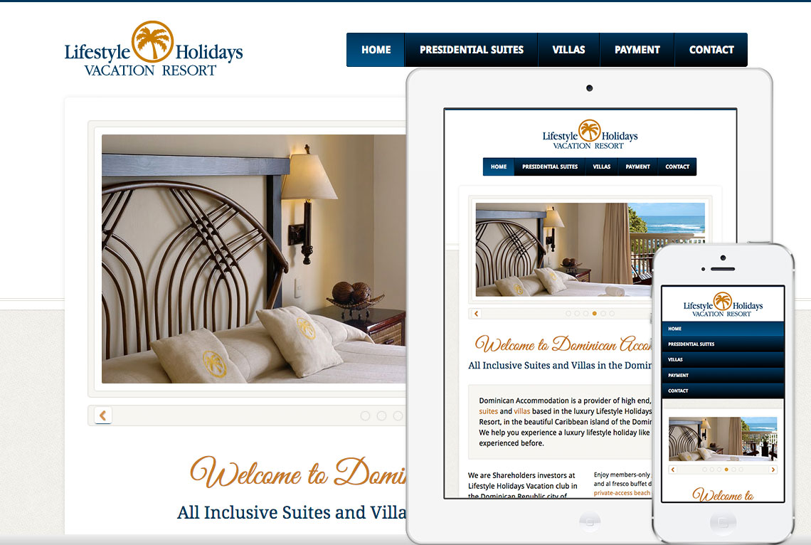 Bespoke WordPress website and responsive web design - Dominican Accommodation