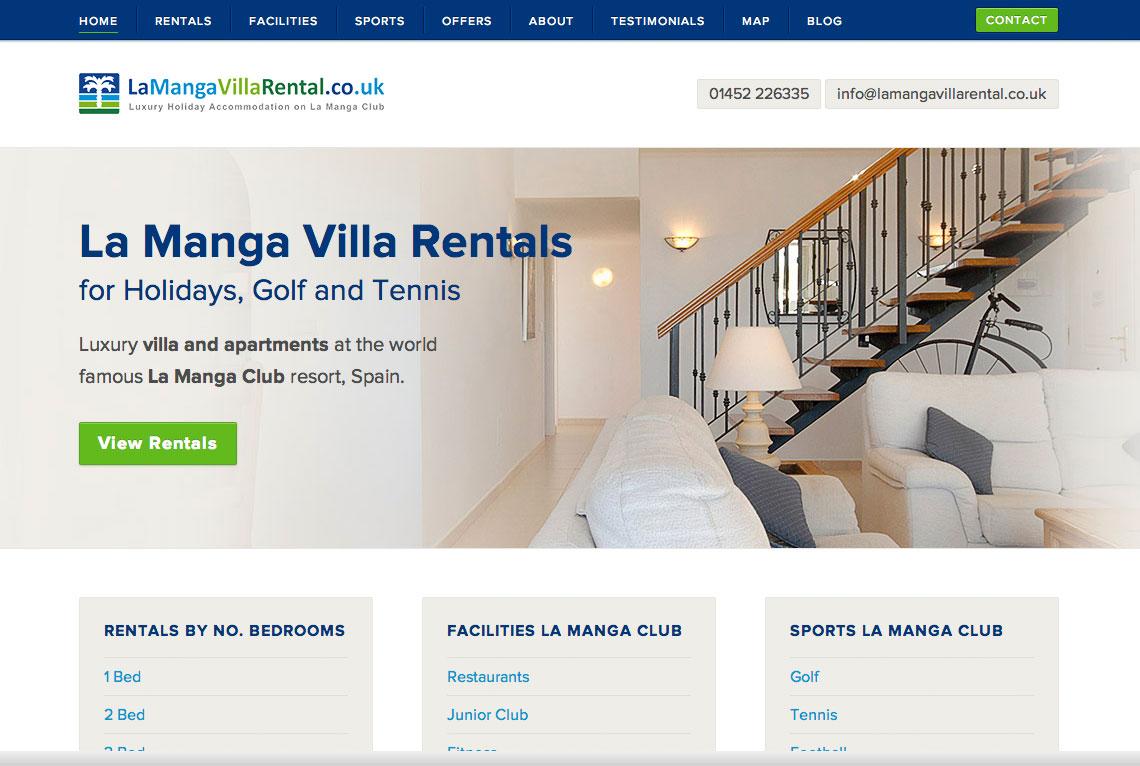 La Manga Villa Rental - Bespoke WordPress web design