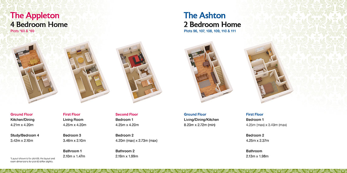 Brochure design room plan - Tattenhoe Park