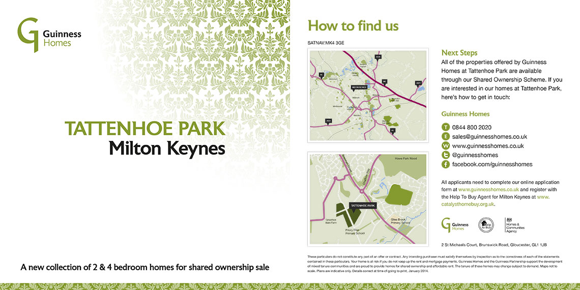 Brochure design - Tattenhoe Park
