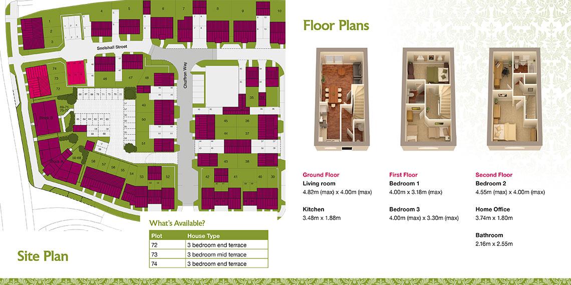 Brochure design site plan - Tollgate Place