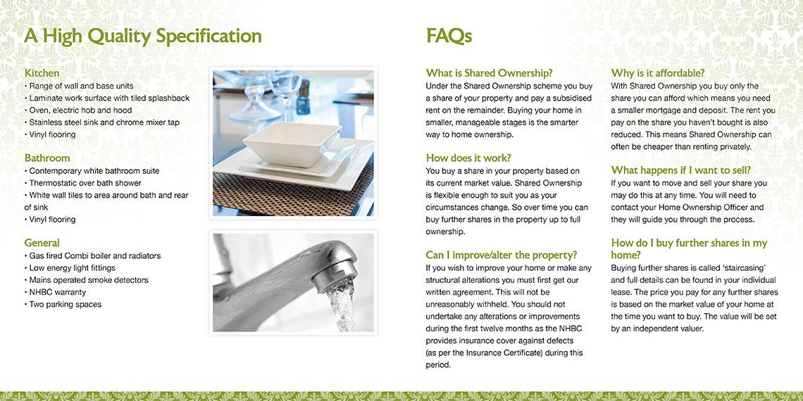 Brochure design spec - Tollgate Place