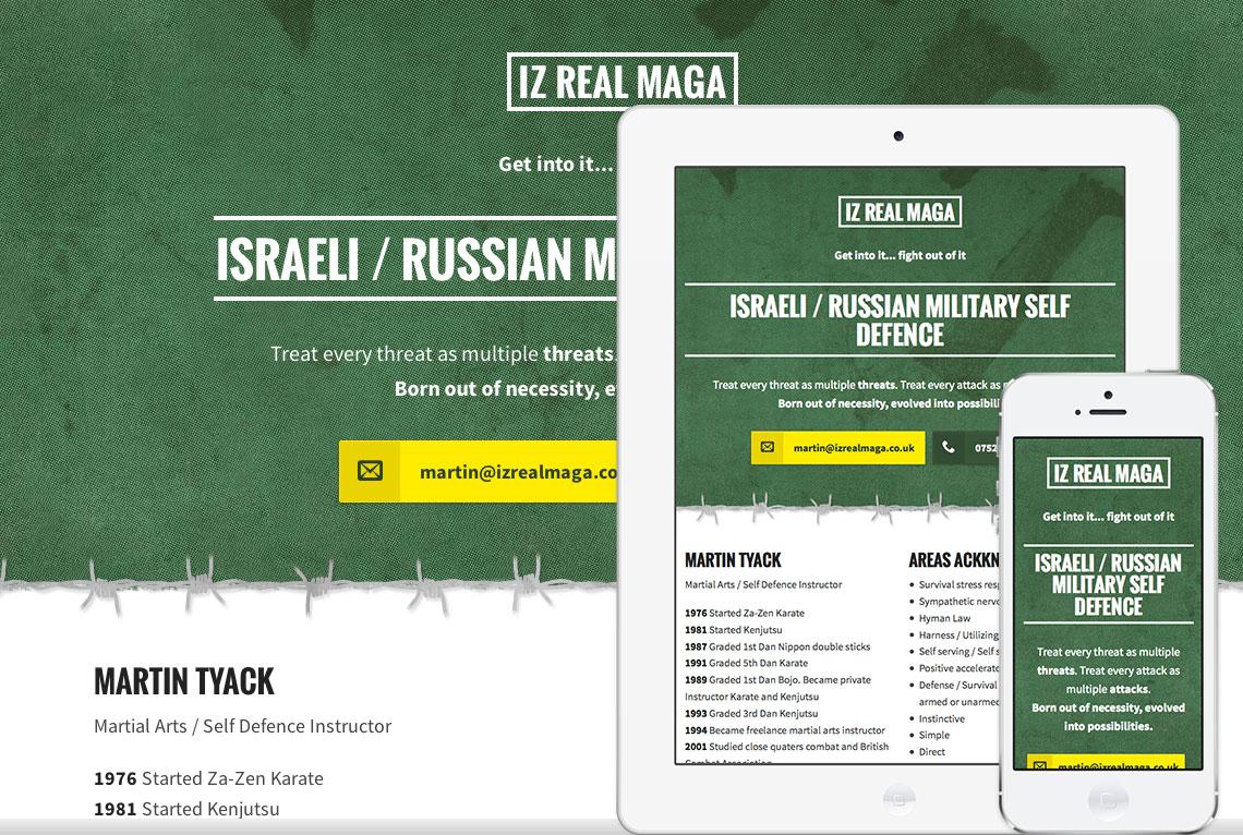 Responsive one page web design - IZ Real Maga