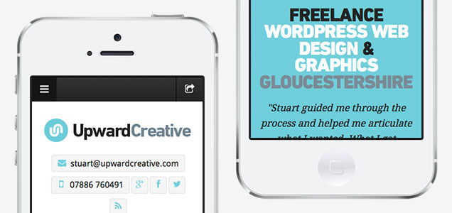 Mobile responsive custom WordPress theme design conversion