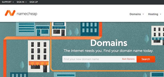 Namecheap provides cheap website domain names