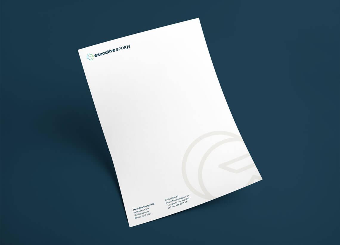 Executive Energy A4 letterhead design