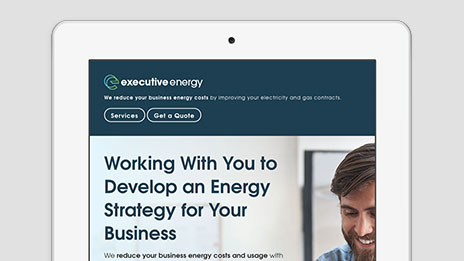 Executive Energy bespoke web design and branding