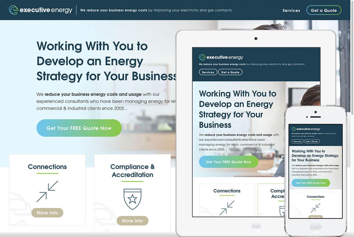 Executive Energy web design