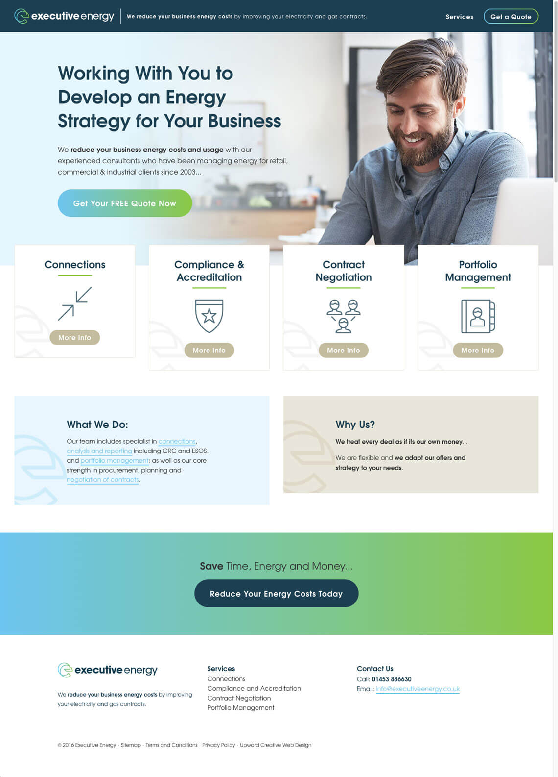 Executive Energy website homepage