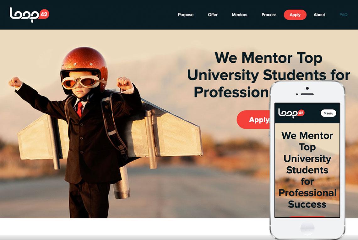 Loop42 WordPress one page website design