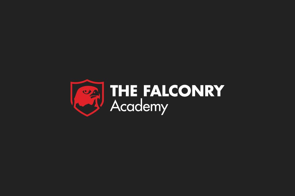 John Dowling Falconry Academy logo design reverse