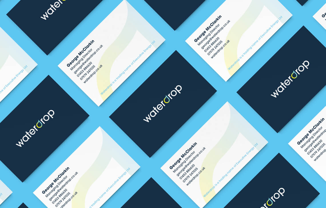 Waterdrop business cards