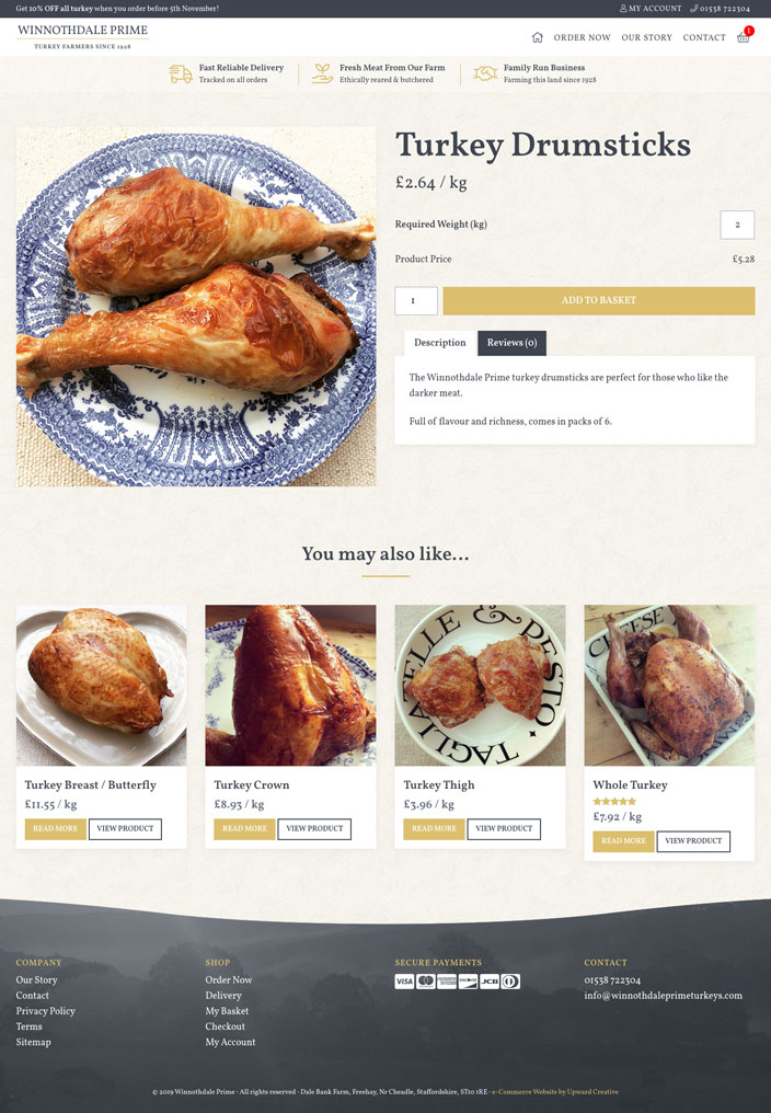 Winnothdale Prime eCommerce website product page