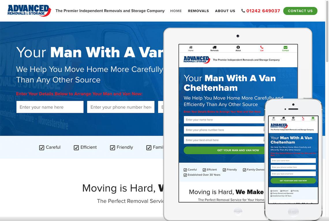 Advanced Removals website design