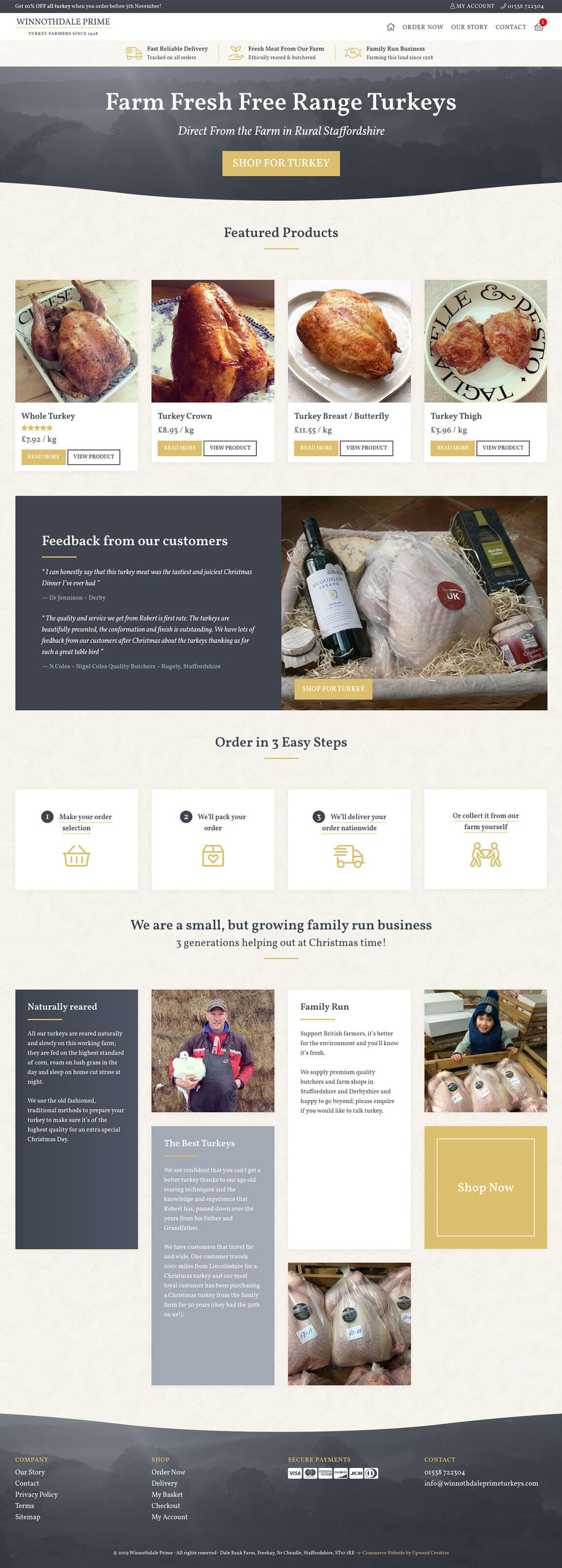 Winnothdale Prime Turkeys website homepage