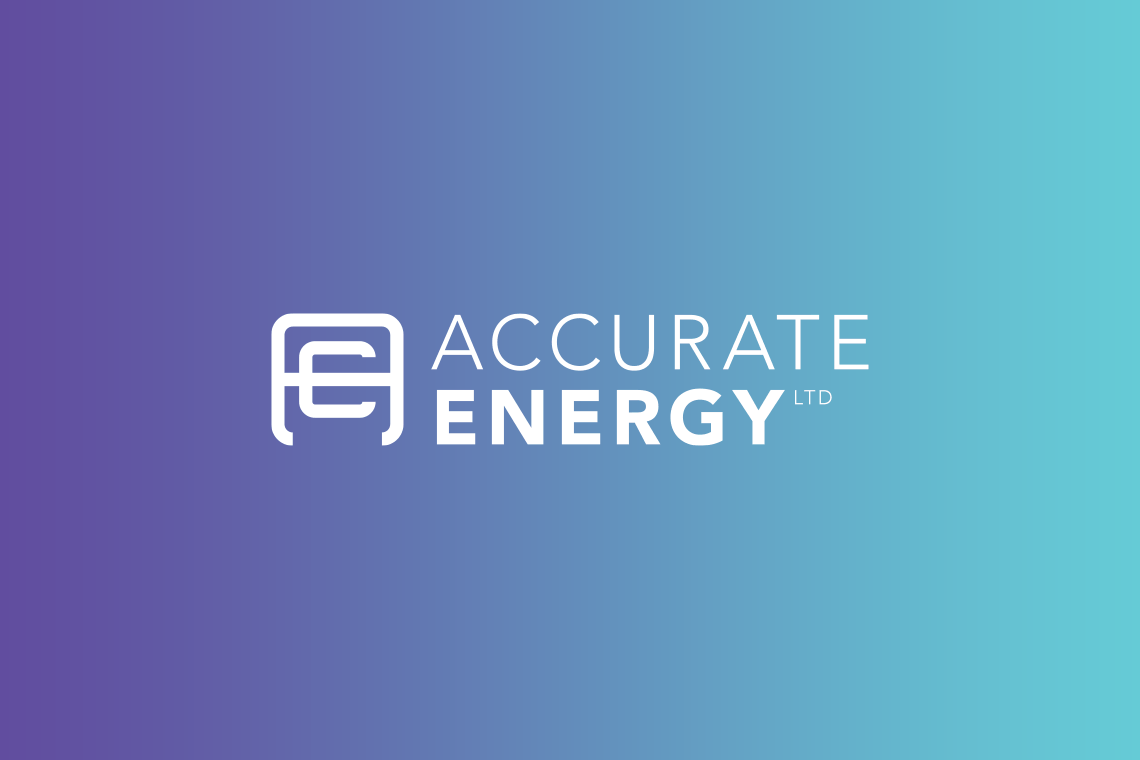 Accurate Energy logo design reverse