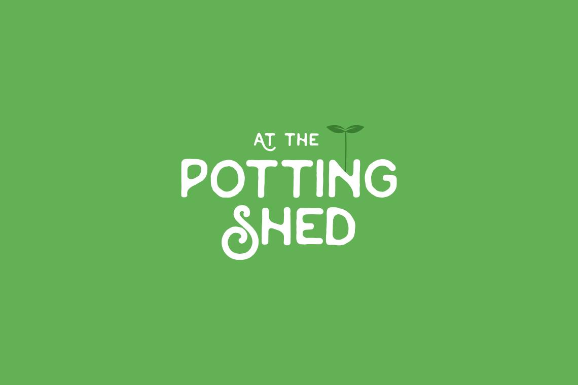 At The Potting Shed logo design reverse