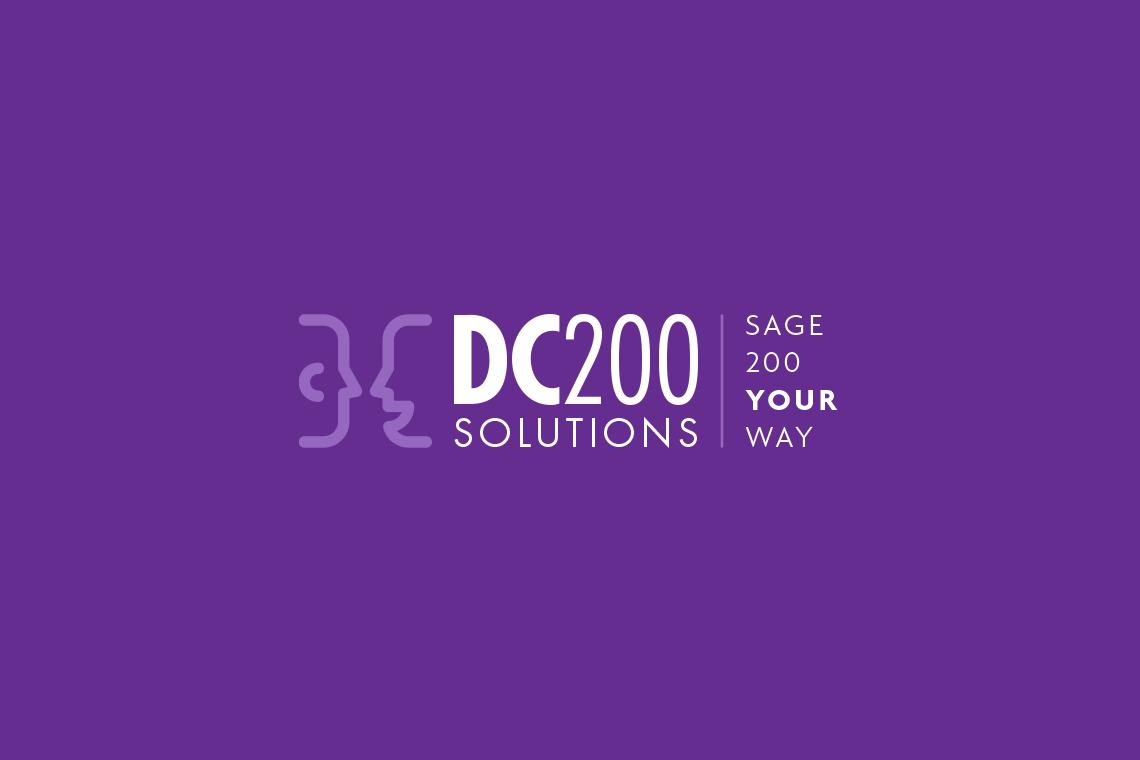 DC200 Solutions logo design reverse