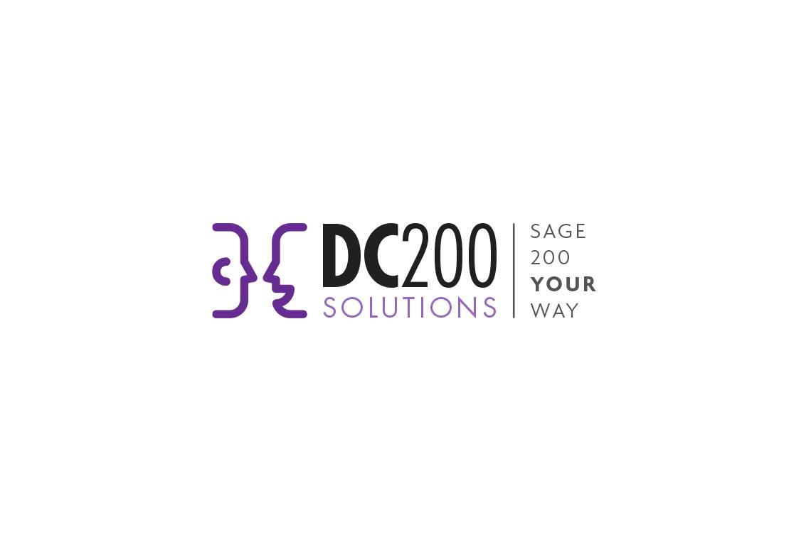 DC200 Solutions logo design